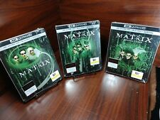 The Matrix Trilogy Steelbooks (4K UHD+Blu-Ray/HD Digital)NEW-Free Box Shipping