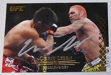 Chris Leben Signed UFC 2011 Topps Title Shot Gold Card #114 Autograph 132 116 82