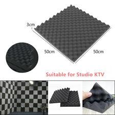 10X Car Soft Sponge Sound Deadening Foam Egg Box Type Acoustic Tiles Studio KTV