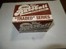 1990 Topps Traded Series Baseball 132 card set