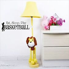 Huhome PVC Wall Stickers Wallpaper Children play basketball in English Eat Sleep