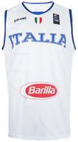 Canotta Bianca Gara Divisa Basket Federazione Italiana Pallacanestro Nuova 3XL
