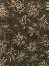 Olive Brown Multicolor Floral Chenille Upholstery Fabric (56 in.) Sold Bty
