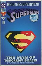 Superman 1987 series # 78 Deluxe variant very good comic book
