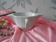 Vintage French  Gravy Boat Double Spout & Handles With Separator White