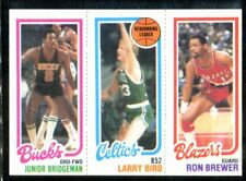 1980 Topps Larry Bird/Fred Brown/Ron Brewer Ex/MT-NM