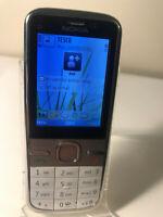 Nokia C5-00 - White & Silver (Unlocked) Mobile Phone