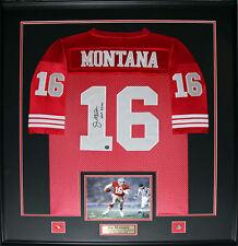 Joe Montana San Francisco 49ers Signed jersey frame