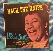 Ella Fitzgerald LP Mack The Knife MONO Verve DG Deep Groove LIVE Berlin