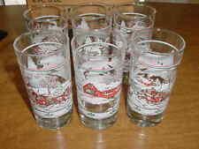 Box Of 6 Winter Wonderland 12oz. Tumbler Beverage Glasses Homco Home Interior