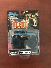 MUSCLE MACHINES DODGE RAM MONSTER TRUCK 1:64 DIE CAST AC/DC M064-05-15 BLUE HTF
