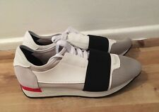 Men's Balenciaga Runner Style Shoes Size 45 Size UK 11 White Grey