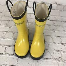 Oakiwear Kids Rain Boots Boys Girls Toddlers Children Yellow 12