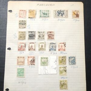 MANCHUKUO Classic Mint & Used Stamps