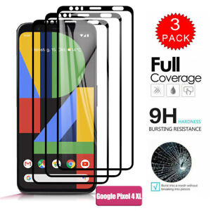 [3/2-Pack] For Google Pixel 4 3A 2 XL FULL cover Tempered Glass Screen Protector