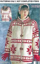 Knitting PATTERNS Mens Womens Bulky Sweaters Jackets Aran Norwegian Star S-XXXL