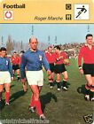 FICHE CARD : Roger Marche FRANCE FOOTBALL 70s