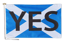 More details for scotland independence yes vote flag with rope and toggle - various sizes