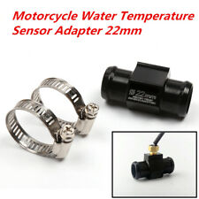 1x CNC Motorcycle Water Temperature Sensor Adapter Plug Pipe Tee Connector 22mm