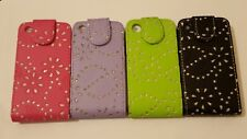 For Apple iPhone 3 3G 3S 3GS Bling Diamond PU Leather Flip Case Cover Pouch