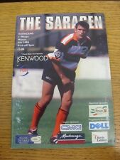 08/03/1998 Rugby Union Programme: Saracens v Wasps (folded, slight marking to co