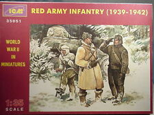 ICM 1/35 WWII  1939-1942 Red Army Infantry 3 figures  35051