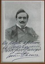 Enrico Caruso Photo Postcard 1908 Autograph+Message+Address in Caruso's Hand