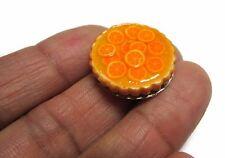 Orange Pie On Tin Pans Dollhouse Miniatures Food Bakery