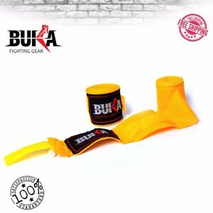 BUKA Boxing Hand Wraps Muay Thai MMA Elastic Bandages Protector New Pair NEW