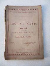 BOOK OF MUSIC - MANCHESTER & SALFORD NONCONFORMIST CHOIR UNION FESTIVAL, 1901