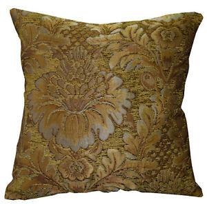 We58 - Olive Brown Peony Flower Leaf Bolster Case/Pillow/Sofa Seat Cushion Cover
