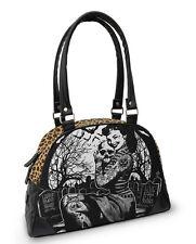 Liquor Brand Graveyard Chick Tattoo Punk Bowling Bag Handbag Purse B-OBW-040