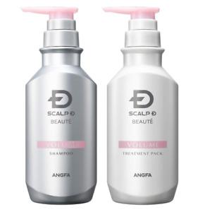 ANGFA Scalp D Beaute Volume Set Shampoo 350ml & Treatment Pack 350ml FedEx DHL