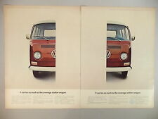 Volkswagen VW Bus Station Wagon Double-Page PRINT AD - 1968