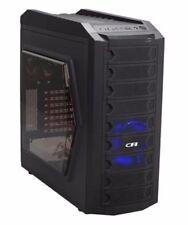 AMD Quad Core Custom Built Gaming PC Computer Desktop 16GB 2TB Blue LED