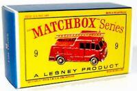 Matchbox Lesney No 9 Fire Truck   Repro D style Empty Box