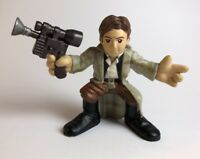 Star Wars Galactic Heroes Han Solo Endor 2007 Loose Trench Coat