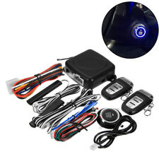 Start Push Button Remote Starter Entry Car Security Keyless Alarm System Set