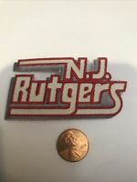 "RUTGERS University Scarlet Knights Embroidered Iron  On Patch 3"" X 1.5"""