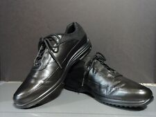 ROCKPORT BLACK LEATHER MEN SHOES 9.5 WALKING RUNNING ATHLETIC TENNIS SNEAKERS!!!