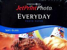 Jet Print Photo Paper Everyday Soft Gloss 25 Sheets 4 X 6  Medium Weight New