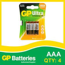 GP Ultra Pilas Alcalinas AAA Bateria Tarjeta de 4 [MP3, Cámaras Consolas De Juegos + Otros]