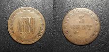 Allemagne - Royaume de Westphalie 3 Cent. de Jérôme Napoléon 1812 Cassel