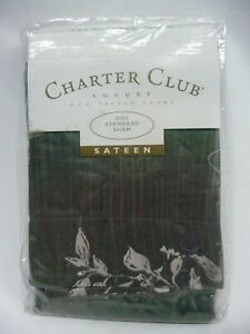 NEW Charter Club Woodspirit Cotton Sateen Standard Pillow Sham 20 x 26