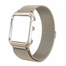 Milanese Magnetic Stainless Strap / Screen Protector Fr Apple iWatch 3/2/1 38/42