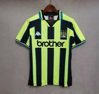 1998-99 Manchester City Away Retro Soccer Jersey