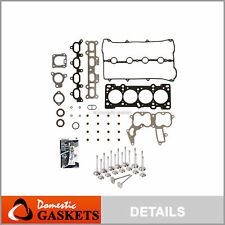 Head Gasket Set Intake Exhaust Valves Fit 91-98 Mazda Kia Ford Mercury 1.8L BP