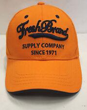 NWOT MEN'S FRESH BRAND STRAPBACK BASEBALL HAT/CAP ORANGE/NAVY STY#E3AF042 SZ:OS
