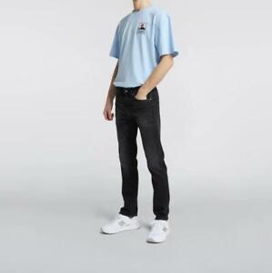 Edwin ED-80 Slim Tapered Jeans  Black - kahori wash
