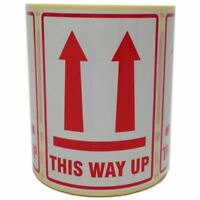 This Way Up Printed Parcel Labels - Postage Stickers - Permanent Self Adhesive